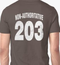 Team shirt - 203 Non-Authoritative, white letters Unisex T-Shirt