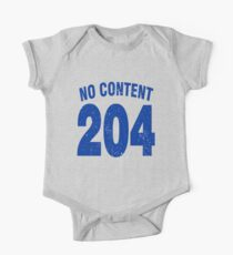 Team shirt - 204 No Content, blue letters Kids Clothes