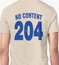 Team shirt - 204 No Content, blue letters Unisex T-Shirt