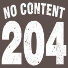 Team shirt - 204 No Content, white letters by JRon