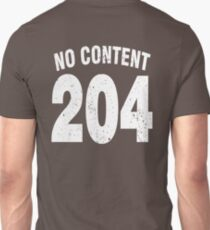 Team shirt - 204 No Content, white letters T-Shirt
