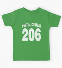 Team shirt - 206 Partial Content, white letters Kids Tee