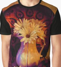 Still Life with Daisy flowers and grapes Graphic T-Shirt