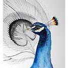 Beatiful peacock painting by Ulianka