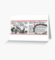 Illustrated Recipe: Wild Things Tempura Greeting Card