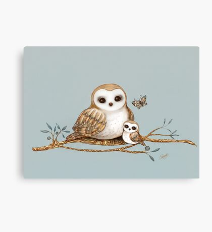 Baby Barn Owl Canvas Print