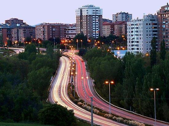 Horizontal View of City traffic by photoshot44