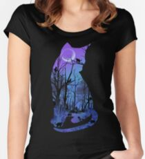 CATMOON Women's Fitted Scoop T-Shirt