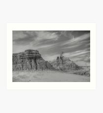Mungo National Parkin B&W Art Print