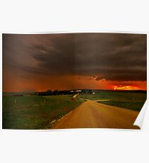 """Thunderstorms Around Sundown"" Poster"