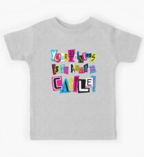PRINCESS RANSOM NOTE Kids Tee