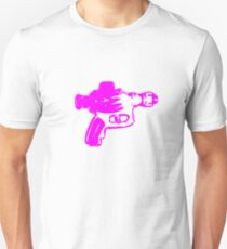Alien Ray Gun - Pink T-Shirt