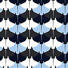 Manta Ray Pattern (Blue and Grey) by jezkemp