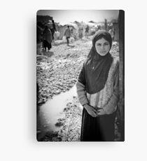 Afghan Refugee Girl 3 Metal Print