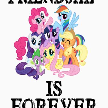 friendship is forever [black text] by wittlewoona