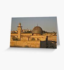 Overview Jerusalem Greeting Card