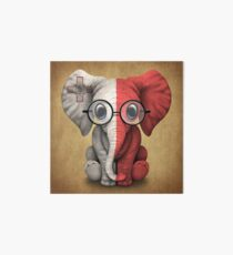 Baby Elephant with Glasses and Maltese Flag Art Board