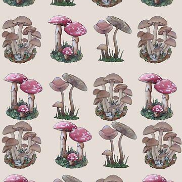 Multiple Mushrooms  by domogatcha