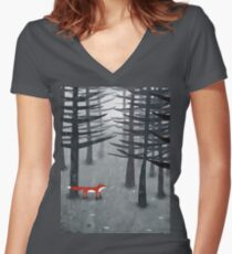 The Fox and the Forest Fitted V-Neck T-Shirt