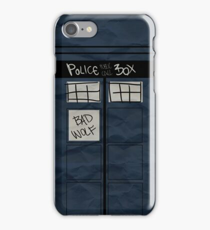 bad wolf iPhone Case/Skin