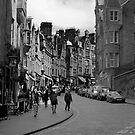 Cockburn street in black and white by Jamie Douglas