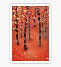 Birches Sticker