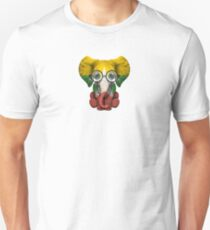 Baby Elephant with Glasses and Myanmar Flag Unisex T-Shirt