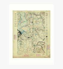 USGS Topo Map Washington State WA Tacoma 244174 1897 125000 Art Print