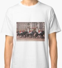 The household cavalry pass Buckingham Palace ahead of Trooping The Colour Classic T-Shirt