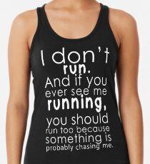 Camiseta con espalda nadadora Yo no corro