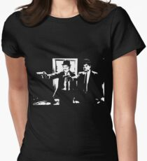 Pulp Fiction Laurel and Hardy Women's Fitted T-Shirt