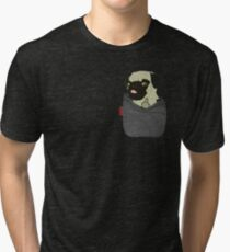 Camiseta de tejido mixto Pug You Pocket