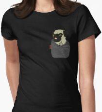 Camiseta entallada para mujer Pug You Pocket