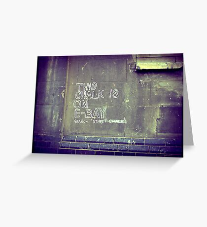 This chalk is on Ebay Greeting Card