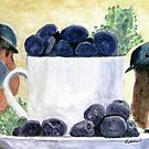 The Temptation Of Blueberries by AngieDavies