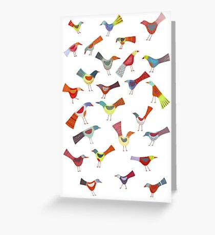 Birds doing bird things Greeting Card