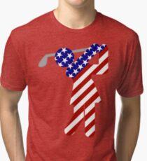 USA Womens Golf Tri-blend T-Shirt