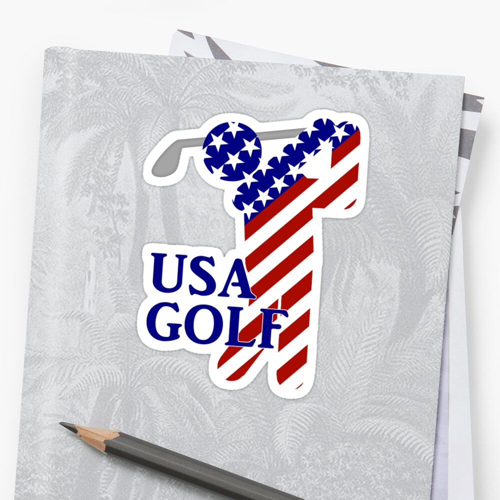 USA Mens Golf - Male Golfer by Gravityx9