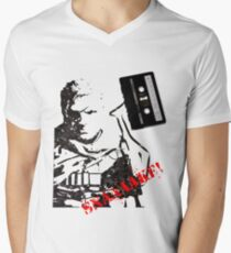 Snake - Metal Gear Solid V cassette art Mens V-Neck T-Shirt
