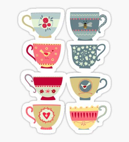 Tea Cups Sticker