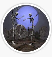 Dancing Skeletons Sticker