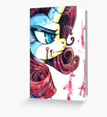 Rarity Red Greeting Card