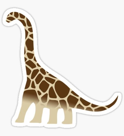 Brachiosaurus Giraffe Sticker