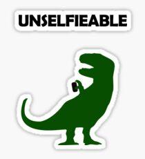 Unselfieable T-Rex Sticker