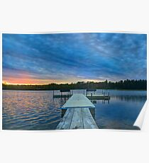 Spring Sunset at the Lake Poster