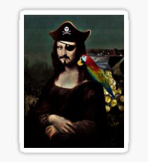 Mona Lisa Pirate Captain Sticker