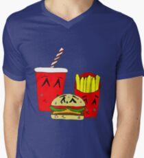Cute fast food cartoon Men's V-Neck T-Shirt
