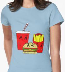 Cute fast food cartoon Women's Fitted T-Shirt