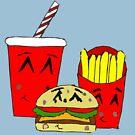 Cute fast food cartoon by Zozzy-zebra