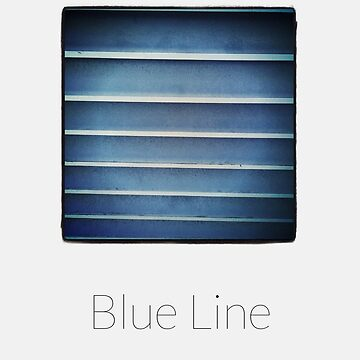 Blue Line - iPhoneography by grenaten